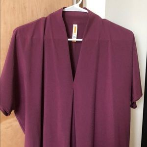 Lucy Dresses - Lucy: plum colored cocoon style athleisure dress